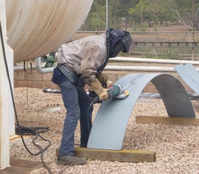 New tank plinths being fabricated