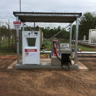 New bowser installation with cyclone rated shelter built and installed in NT